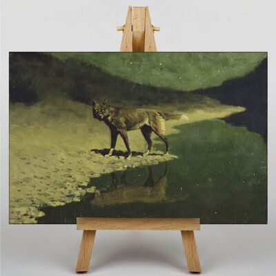 Big Box Art Moonlight, Wolf by Frederic Remington Art Print on Canvas