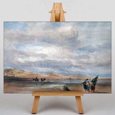Big Box Art Shrimpers on Lancaster Sands by Richard Bonington Art Print on Canvas