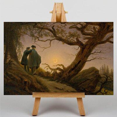 Big Box Art Contemplating the Moon by Caspar David Friedrich Art Print on Canvas