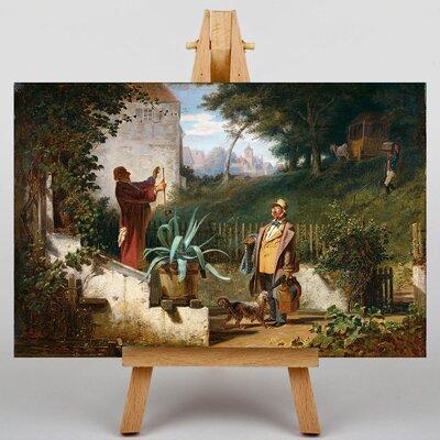 Big Box Art Jugendfreunde by Carl Spitzweg Art Print on Canvas