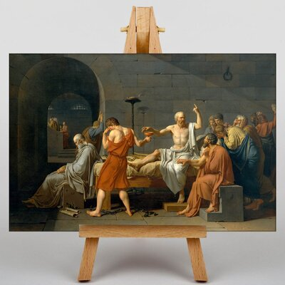Big Box Art The Death of Socrates by Jacques-Louis David Art Print on Canvas