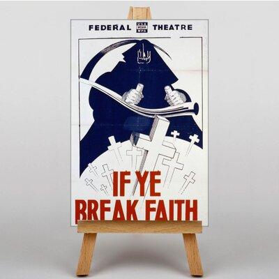 Big Box Art If Ye Break Faith Vintage Advertisement on Canvas