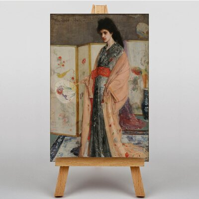 Big Box Art Lady in a Kimono by James McNeill Whistler Art Print on Canvas