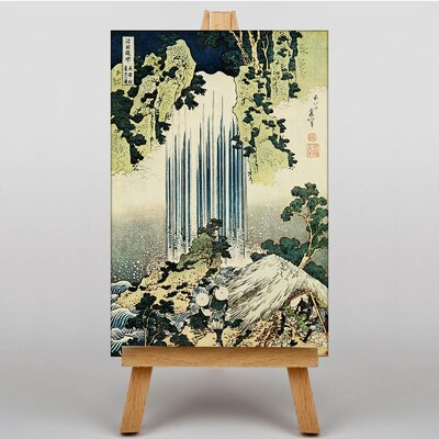 Big Box Art KatsushikaThe Waterfall of Yoro by Hokusai Japanese Oriental Art Print on Canvas