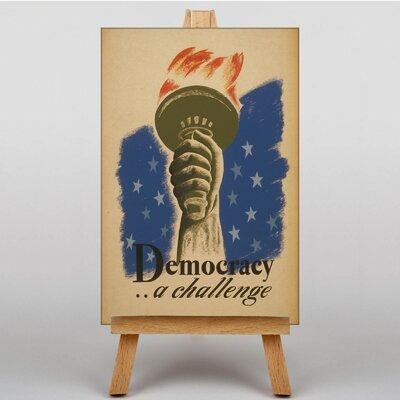 Big Box Art Democracy Vintage Advertisement on Canvas
