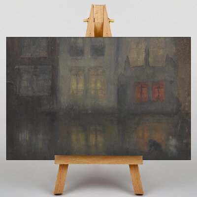 Big Box Art Noctunre Black and Red by James McNeill Whistler Art Print on Canvas