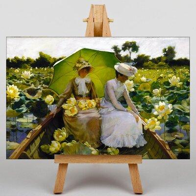 Big Box Art Lotus Lillies by Charles C. Curran Art Print on Canvas