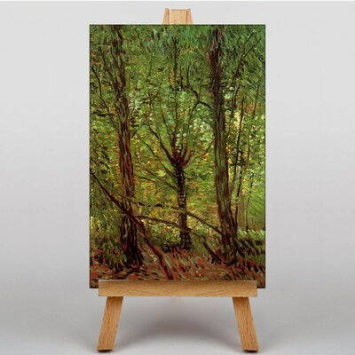 Big Box Art Trees and Undergrowth by Vincent Van Gogh Art Print on Canvas