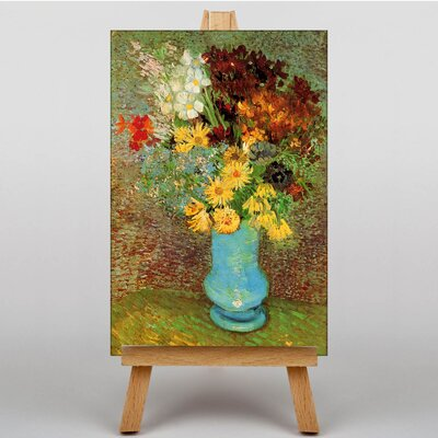Big Box Art Vase with Daisies and Anemones by Vincent Van Gogh Art Print on Canvas
