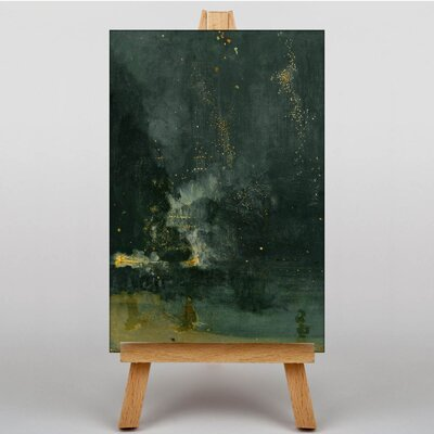 Big Box Art Nocturne in Black and Gold by James McNeill Whistler Art Print on Canvas
