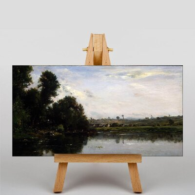 Big Box Art Daubigny Washerwoman by Charles-Francois Art Print on Canvas