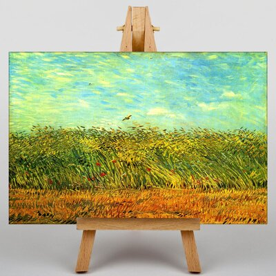 Big Box Art Wheat Field and a Lark by Vincent Van Gogh Art Print on Canvas