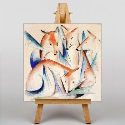 Big Box Art Foxes by Franz Marc Art Print on Canvas