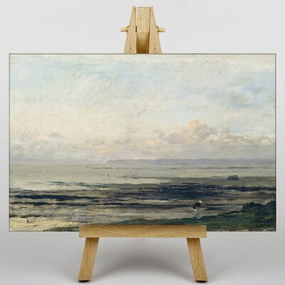 Big Box Art Daubigny Woman by the Water by Charles-Francois Art Print on Canvas
