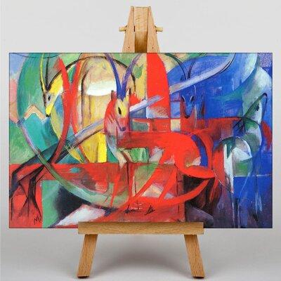 Big Box Art Gazelle by Franz Marc Art Print on Canvas