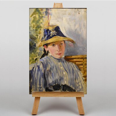 Big Box Art Woman in a Straw Hat by Ernst Josephson Art Print on Canvas