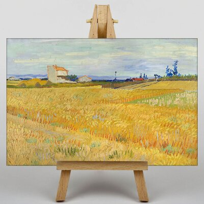 Big Box Art Wheat Field by Vincent Van Gogh Art Print on Canvas