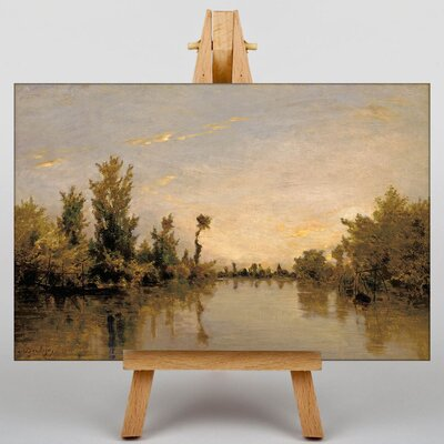 Big Box Art Daubigny banks of the River Seine by Charles-Francois Art Print on Canvas