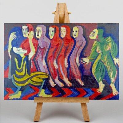 Big Box Art Dance of Death by Ernst Ludwig Kirchner Art Print on Canvas