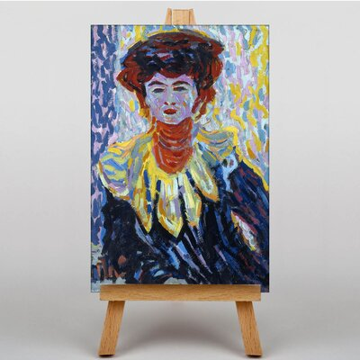 Big Box Art Doris with Ruff Colar by Ernst Ludwig Kirchner Art Print on Canvas