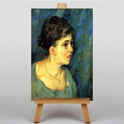 Big Box Art Woman in Blue by Vincent Van Gogh Art Print on Canvas