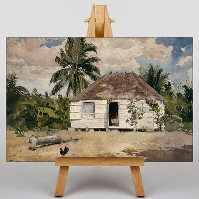 Big Box Art Native Huts, Nassau by Winslow Homer Art Print on Canvas