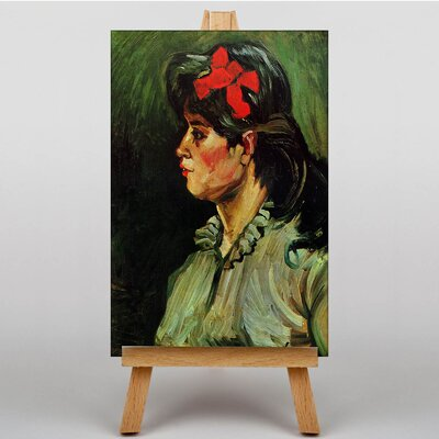 Big Box Art Woman with a Red Ribbon by Vincent Van Gogh Art Print on Canvas