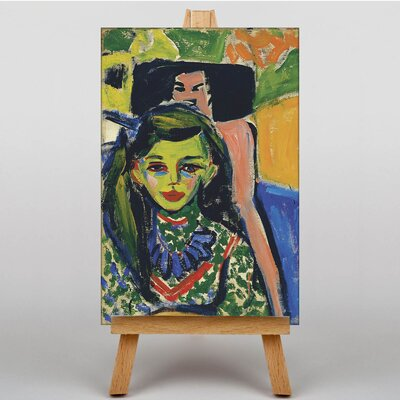 Big Box Art Portrait of Franzi by Ernst Ludwig Kirchner Art Print on Canvas