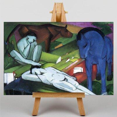 Big Box Art Shepherds by Franz Marc Art Print on Canvas