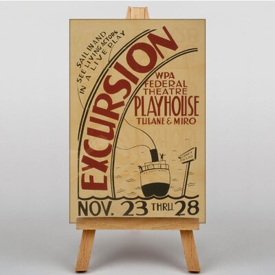 Big Box Art Excursion Vintage Advertisement on Canvas