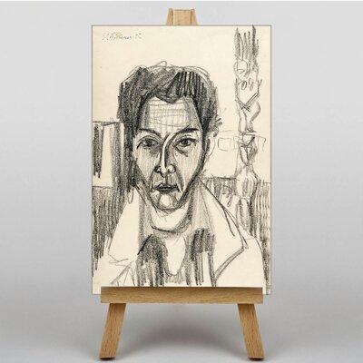 Big Box Art Portrait Sketch by Ernst Ludwig Kirchner Art Print on Canvas