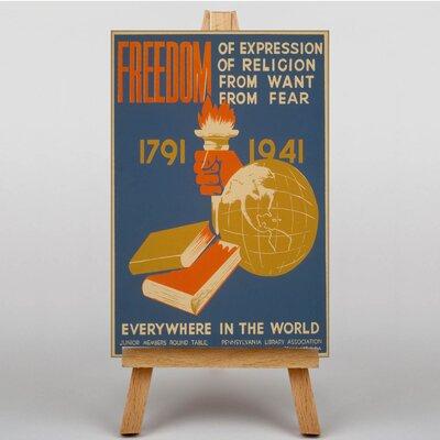 Big Box Art Freedom Vintage Advertisement on Canvas