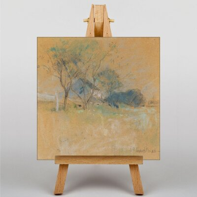 Big Box Art House and Tree by John Henry Twachtman Art Print on Canvas