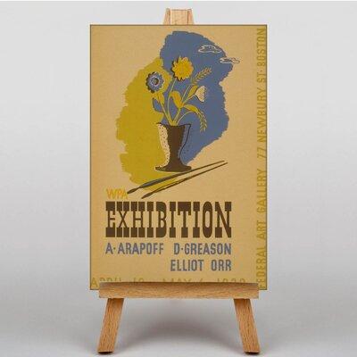 Big Box Art Exhibition No.10 Vintage Advertisement on Canvas