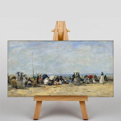 Big Box Art Beach of Trouville by Eugene Boudin Art Print on Canvas
