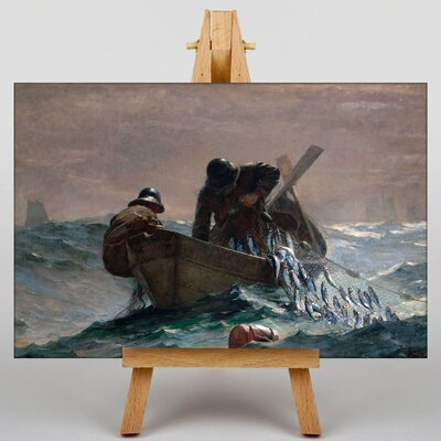 Big Box Art Pulling in the Catch by Winslow Homer Art Print on Canvas