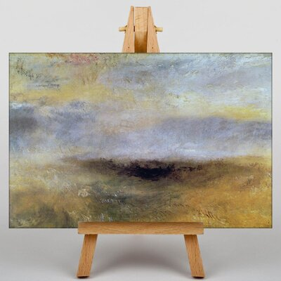 Big Box Art Seascape with Storm Coming by Joseph Mallord William Turner Art Print on Canvas