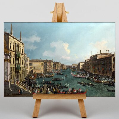 Big Box Art Regatta on the Grand Canal by Giovanni Canaletto Art Print on Canvas