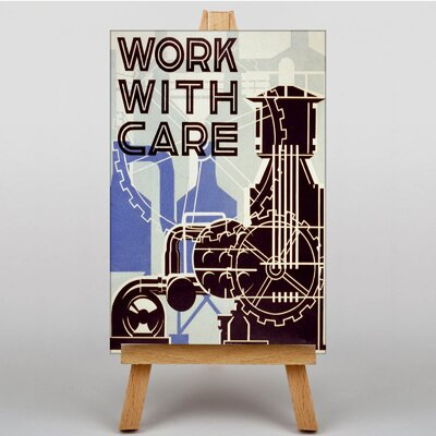 Big Box Art Work With Care Vintage Advertisement on Canvas