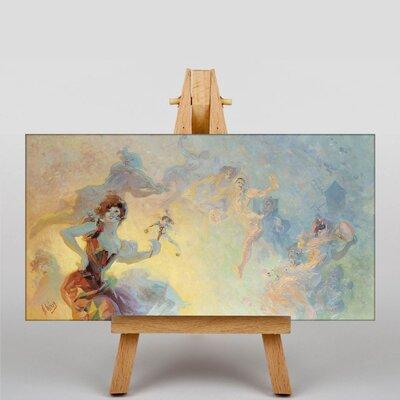 Big Box Art Artwork No.1 by Jules Cheret Art Print on Canvas
