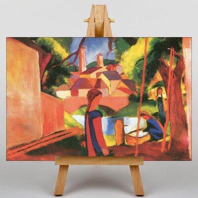 Big Box Art Walking to Town by August Macke Art Print on Canvas