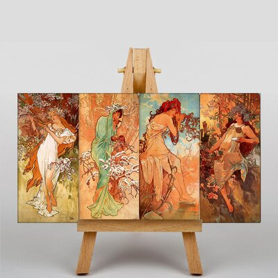 Big Box Art Multi Artworks by Alphonse Mucha Art Print on Canvas