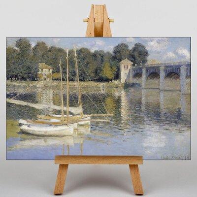 Big Box Art The Argenteuil Bridge by Claude Monet Art Print on Canvas