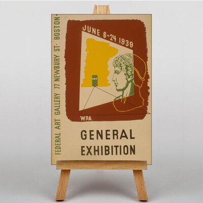 Big Box Art Exhibition No.9 Vintage Advertisement on Canvas