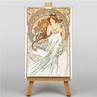 Big Box Art Music by Alphonse Mucha Graphic Art on Canvas