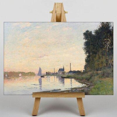 Big Box Art The Shore at Dusk by Claude Monet Art Print on Canvas