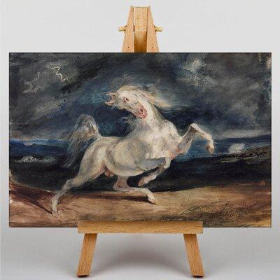 Big Box Art Frightened Horse by Eugene Delacroix Art Print on Canvas