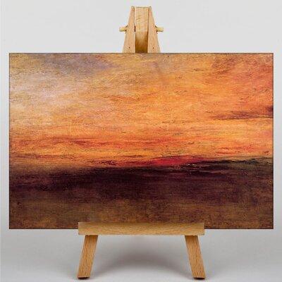 Big Box Art Sun Setting by Joseph Mallord William Turner Art Print on Canvas