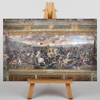 Big Box Art The Battle of the Milvian Bridge by Giulio Romano Art Print on Canvas