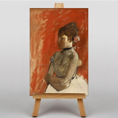 Big Box Art Ballet with Arms Crossed by Edgar Degas Art Print on Canvas